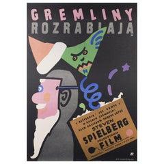 """""""Gremlins"""" Original Polish Film Poster, Jan Mlodozeniec, 1985"""