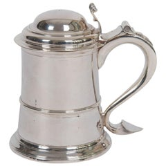 Georgian Sterling Silver Tankard by John Langlands, Newcastle England 1757