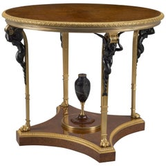 Louis XVI Style Amboyna Centre Table Attributed to François Linke, circa 1910