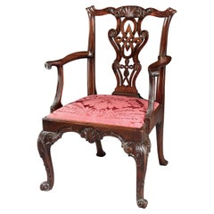 18th Century George II Irish Mahogany Armchair