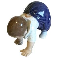 Royal Copenhagen Figurine Crawling Child No 1518