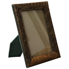 Midcentury Green Alligator Picture Frame