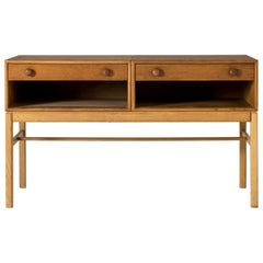 Small Oak Sideboard by Sven Engström and Gunnar Myrstrand