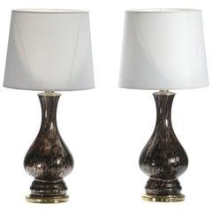 Italian Midcentury Murano Glass Lamps Vincenzo Nason, 1960s