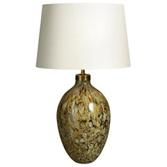 Mid-Century Modern Glass Vase Lamp