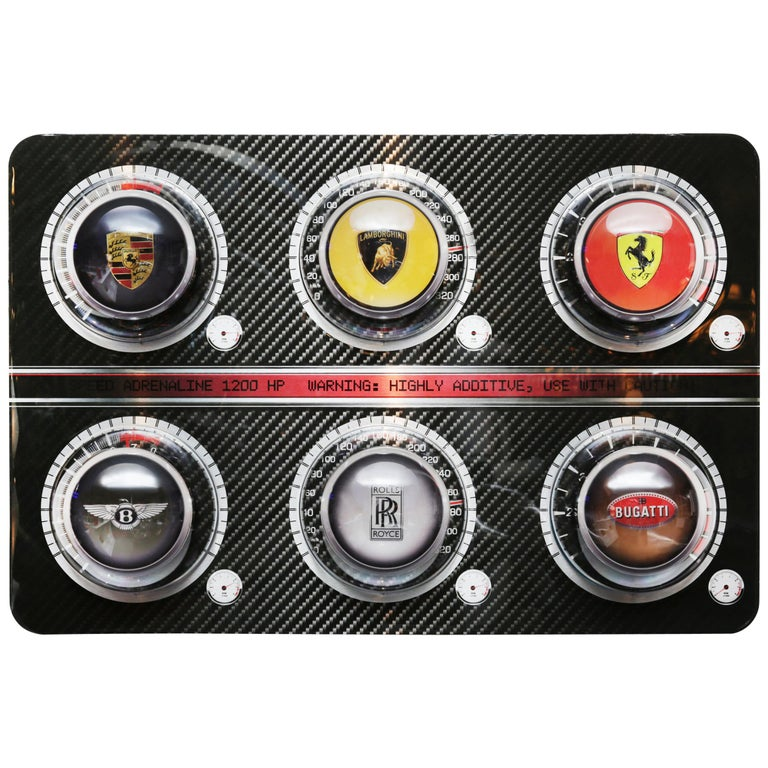 Pills Luxury Cars Panel Limited Edition For Sale