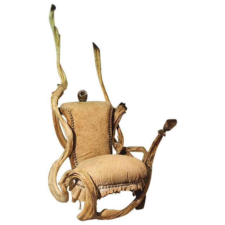 Guru High Armchair with Amethyst Stone For Sale