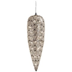 Big Sensation Pendant Lamp, Chrome Finish, Arabesque Style, Italy