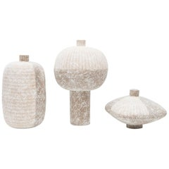 1970s Set of Three Ceramic Vases by Claude Conover