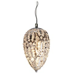 Egg Small Pendant Lamp, Chrome Finish, Arabesque Style, Italy