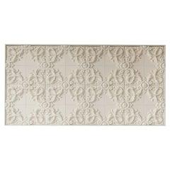 Decorative Panel in 3D Baroque Ceramic, Customizable, Acanto, New York