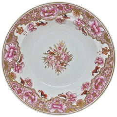 Spode Pink and Gilt Plate