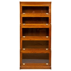 Oak Stacking Barristers Bookcase
