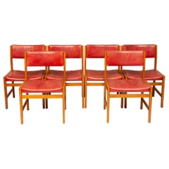 Kurt Ostervig Set of Six Oak Dining Chairs, circa 1960