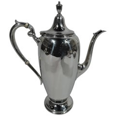 Traditional American Colonial Sterling Silver Coffeepot