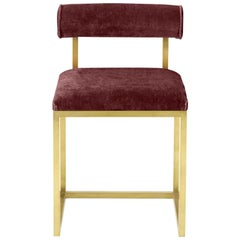 Awaiting, T Stool Brass and Velvet