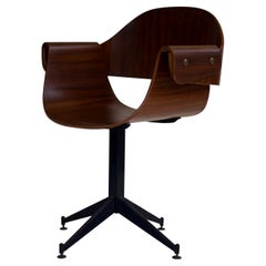 1950s Bent Ply Desk Chair by Carlo Ratti, Italy
