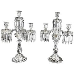 Pair of Baccarat Candelabra