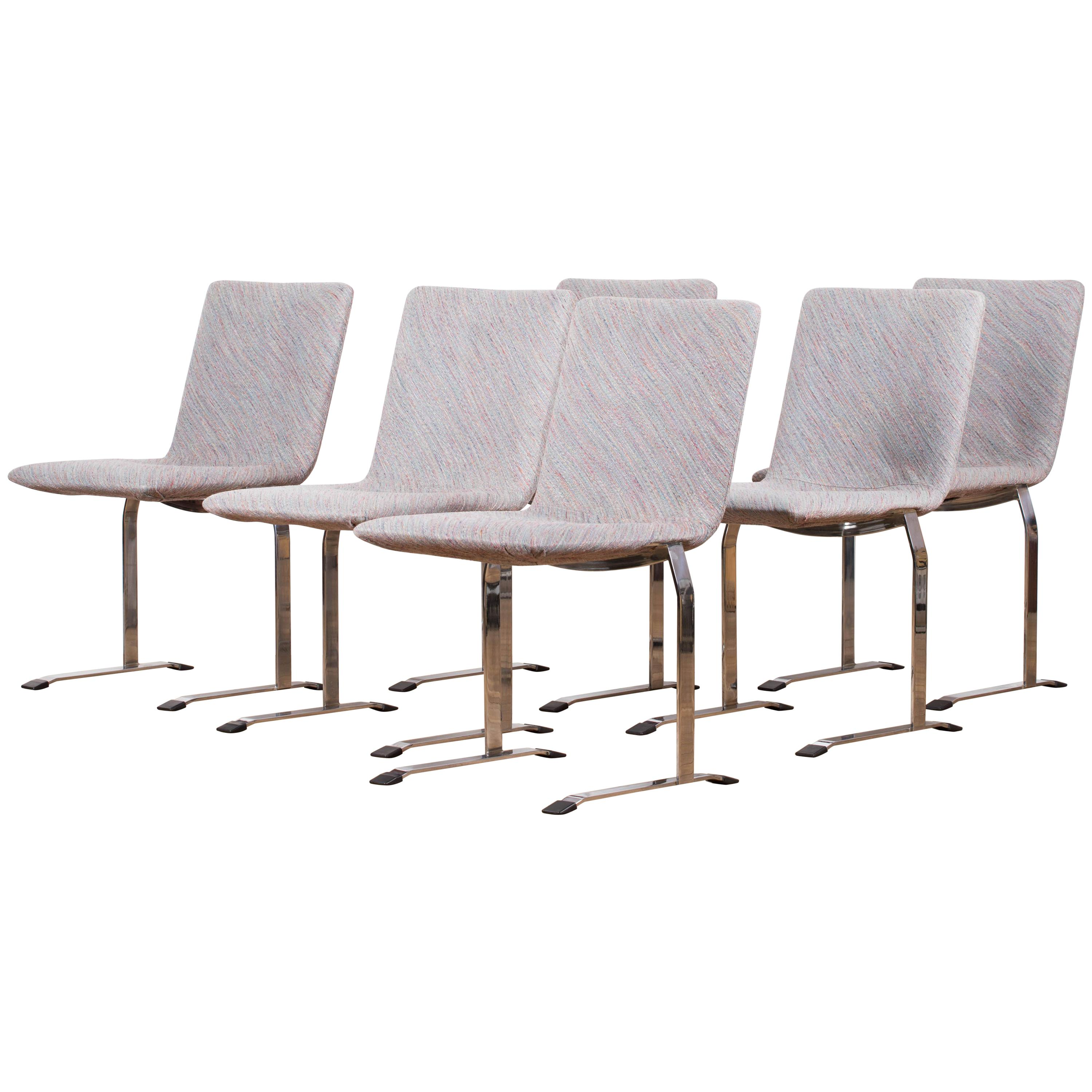 Set of Twelve Inlay Chairs by Giovanni Offredi for Saporiti, 1970