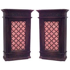 Pair of Spanish Renaissance Style Narrow Cabinets