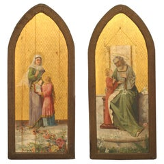 Pair of English Gothic Revival Style Wall Plaques