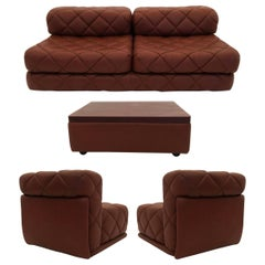 Sectional Sofa Suite, Daybed Model 'Rhombos' Wittmann, Austria, 1970s