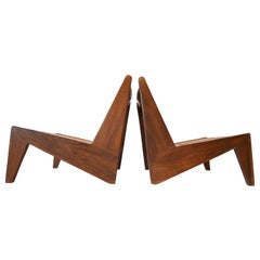Kangaroo Chairs by Pierre Jeanneret for the Chandigarh Project