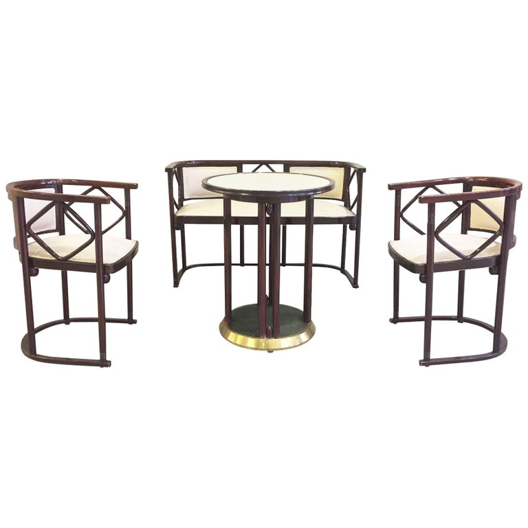 1930s Salon Suite by Josef Hoffmann for J&J Kohn and Mundus For Sale