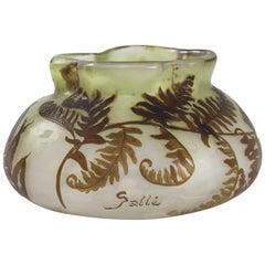 French Art Nouveau Cameo Glass Vase by Emile Gallé