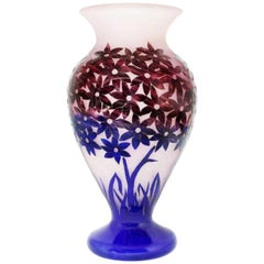 Large Degué Cameo Glass Vase, circa 1930