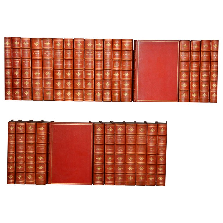 Books The Writings of Rudyard Kipling, The Bombay Edition Collected Antiques Set For Sale
