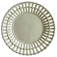 18th Century Leeds Pottery Creamware Latticed Dish or Plate, English, circa 1790