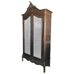 Superb 1900s French Armoire with Mirrored Doors