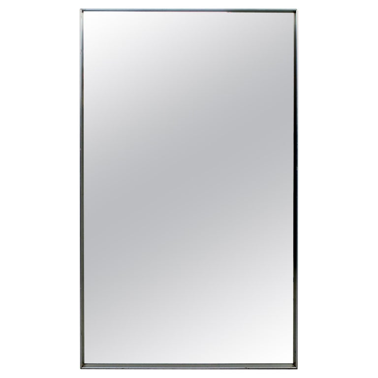 Mid Century Modern Large Chrome Plated Rectangular Hart Co Wall Mirror 1960s For Sale At 1stdibs