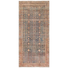 Tribal Blue Grey Antique Pomegranate Khotan Rug
