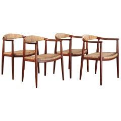 Hans Wegner 'The Chair', Set of 4