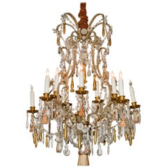 Italian Beaded Giltwood Chandelier