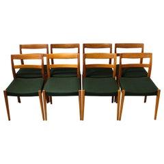 "1950s Nils Jonsson ""Garmi"" Teak Dining Chairs by Troeds, Set of 8"