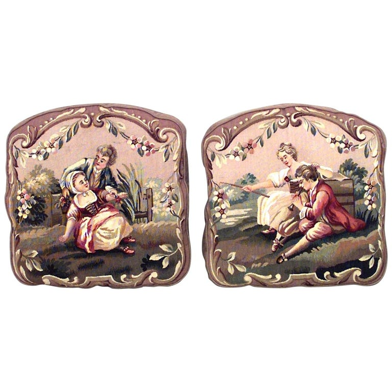 Pair of French Victorian Cushions For Sale