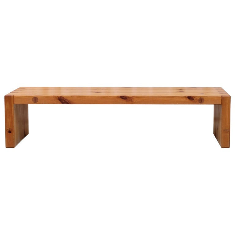 Roland Wilhelmsson Table / Bench in Pine, Produced in Sweden, 1960s For Sale