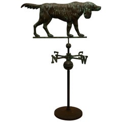 Copper Dog Weather Vane, American, Late 19th Century