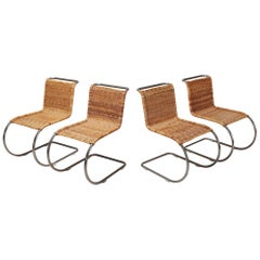 Ludwig Mies van der Rohe Set of Four B42 Weissenhof Chairs by Tecta