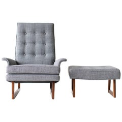 Milo Baughman Lounge Chair and Ottoman for Thayer Coggin