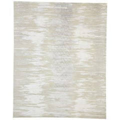New Nordic Ombré Area Rug with Neutral Colors and Hygge Scandi Style