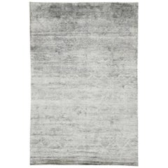 Contemporary Gray Area Rug with Scandi-Modern and New Nordic Style