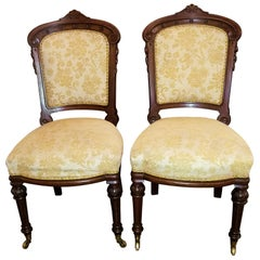 19th Century Pair of William IV British Mahogany Side Chairs