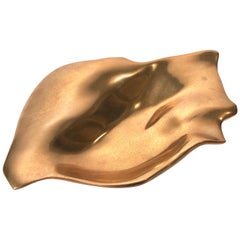 Michel Jaubert Sculptural Bronze Dish Vide Poche