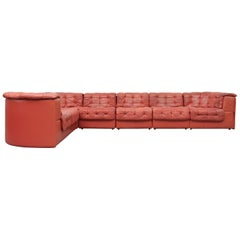 De Sede DS 11 Terracotta Leather Sectional Sofa