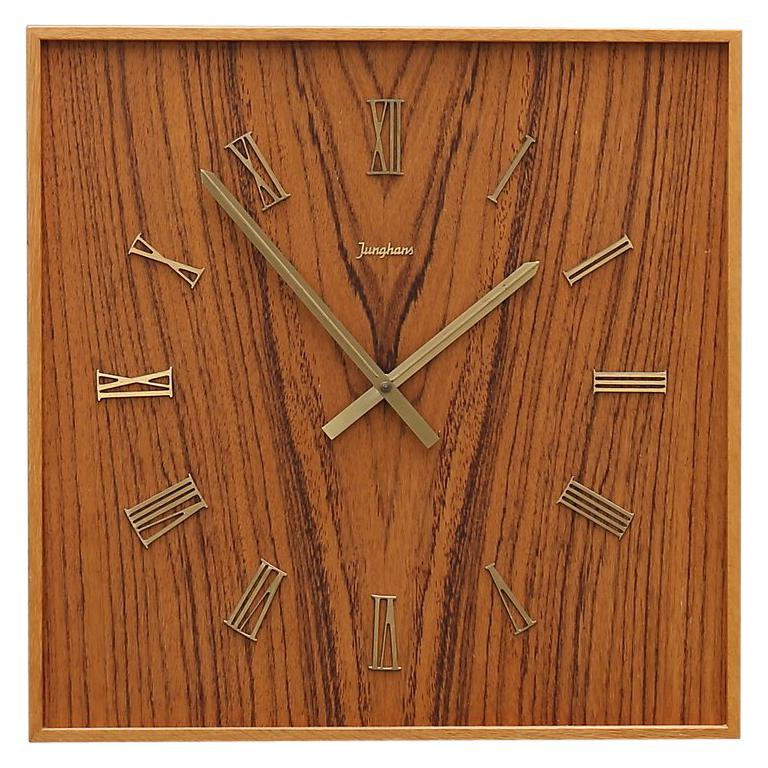 Midcentury Wall Clock by Junghans