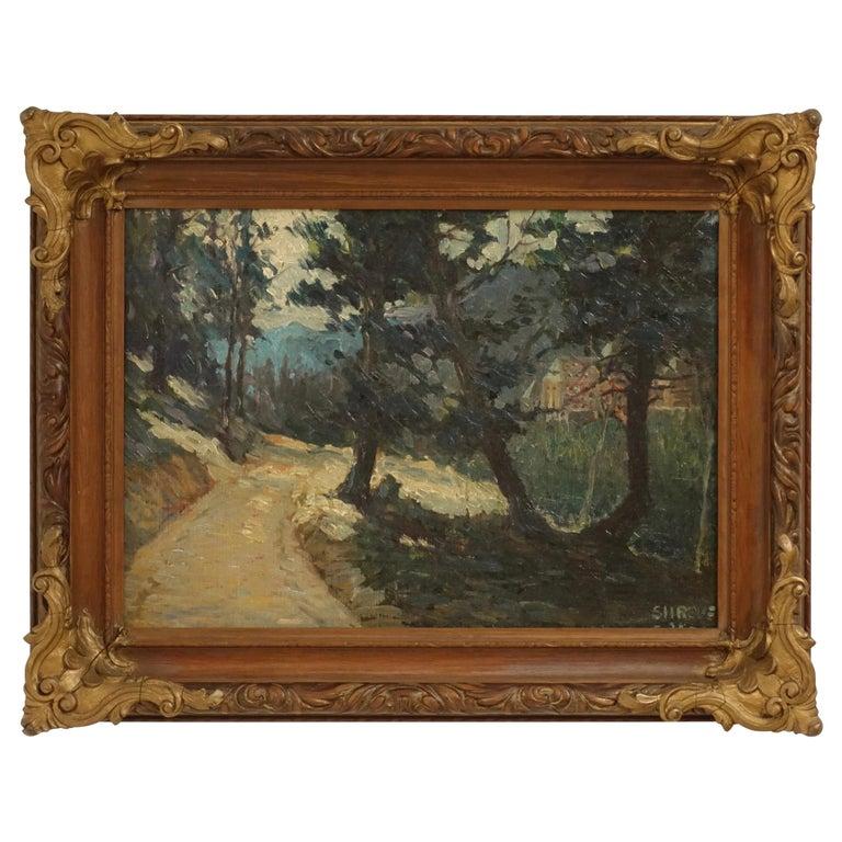Impressionist Landscape Painting, Signed Shreve 1923 For Sale